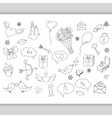 Sketchy hand drawn love doodles objects vector image vector image