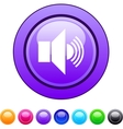 Sound circle button vector image