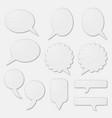 speech bubbles as white cardboard vector image