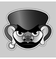 sticker - evil pirate with hat and earrings vector image