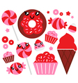 strawberry candy vector image vector image