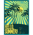 Summer typographic grunge retro poster vector image vector image