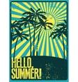 Summer typographic grunge retro poster vector image