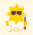sun with thermometer vector image vector image