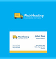 truck logo design with business card template vector image