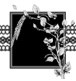 Vintage Monochrome Background with Birch Twigs vector image vector image
