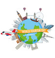 world tourism day symbol vector image vector image