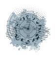 zodiac clock background vector image vector image