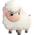 beautiful cheerful sheep vector image