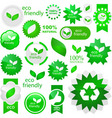 eco friendly elements vector image