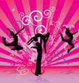 pink red dance people vector image