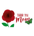 cute flower and butterfly thank you mom banner vector image