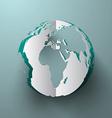 Paper Cut Globe - Earth vector image