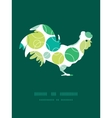 abstract green circles rooster silhouette vector image vector image