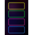 abstract neon frame template on dark background vector image vector image