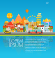 Around the world concept Asia cityscape travel vector image vector image