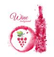 Artistic watercolor wine background