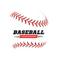 baseball ball on white background vector image vector image
