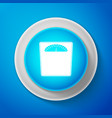 bathroom scales icon isolated on blue background vector image vector image