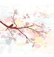 bird on a branch vector image vector image