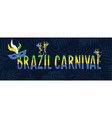 Brazil carnival web banner invitation text in