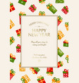 bright merry christmas festive background vector image