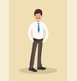 business man in white shirt vector image vector image