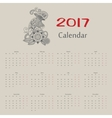 calendar Year of rooster russian format vector image