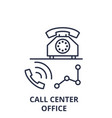call center office line icon concept call center vector image vector image