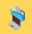 cloud computing storage vector image vector image
