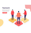 collaborative environment concept isometric vector image