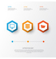computer icons set collection of desktop vector image vector image