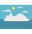 Cruise passenger ship cartoon