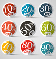 Discount Circle Labels vector image vector image