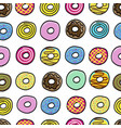 donuts sweet pattern seamless vector image vector image
