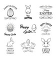 easter badges and labels design elements set vector image