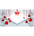 elegant christmas banner vector image vector image