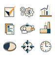 flat business web icons vector image vector image
