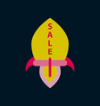 flat icon of sale rocket vector image vector image
