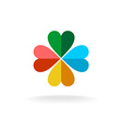 Four leaves colorful clover logo vector image