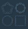 frame borders set vector image vector image