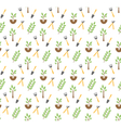 Gardening seamless pattern vector image vector image