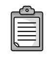 grayscale check list business document vector image vector image