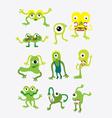 Green monster set vector image vector image