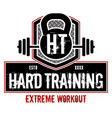 hard training vector image vector image