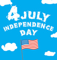 Independence Day of America Letters from clouds on vector image