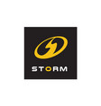 initial letter s storm power bolt flash logo vector image