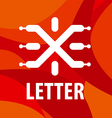 logo letter X in the form chip vector image vector image