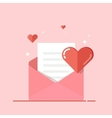 Love letter greeting card invitation isolated on vector image vector image