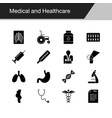 medical and healthcare icons design vector image